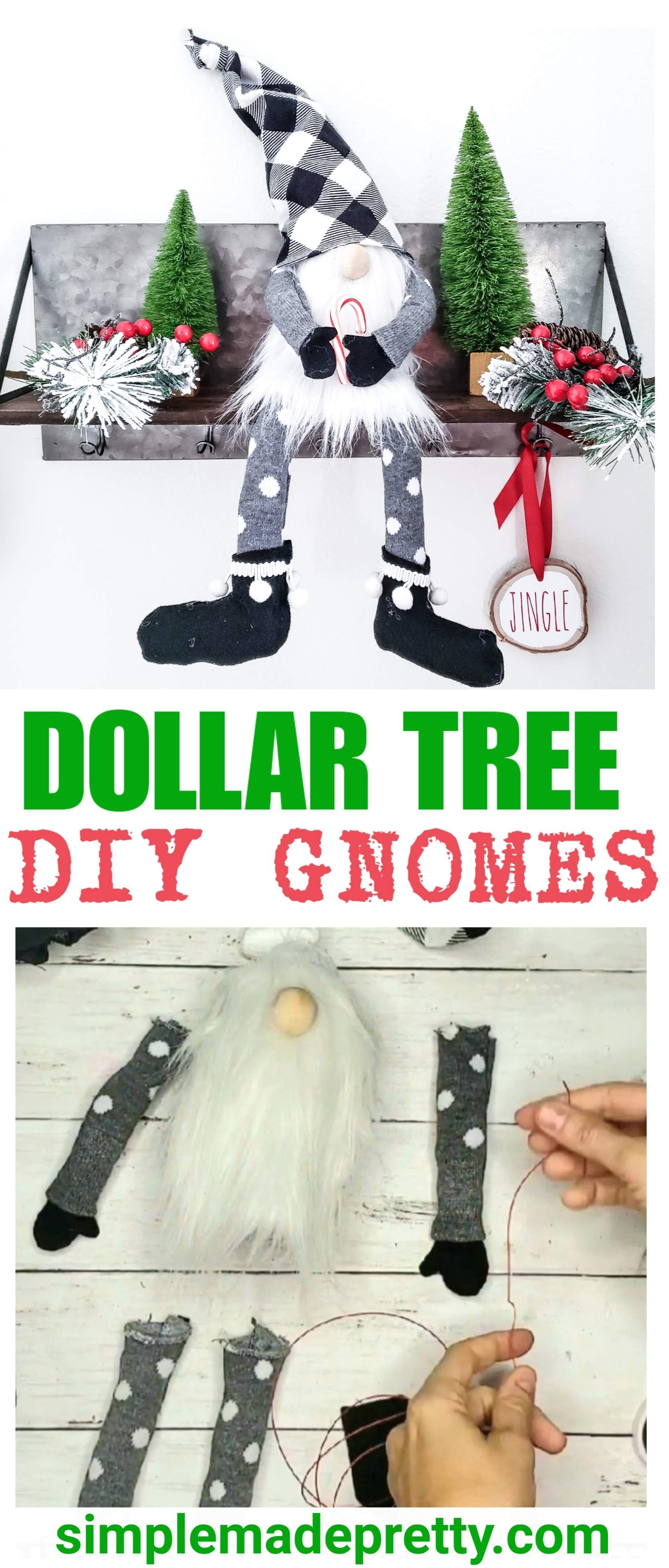 How To Make Gnomes With Arms and Legs Dollar tree crafts