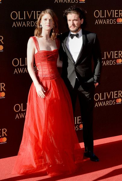 Rose Leslie Photos Photos - Rose Leslie and Kit Harington attend The Olivier Awards 2017 at Royal Albert Hall on April 9, 2017 in London, England. - The Olivier Awards 2017 - Red Carpet Arrivals