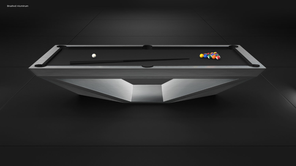 Stealth Modern Pool Table 11 Ravens In 2020 Modern Pool Table Pool Table Room Custom Pool Tables
