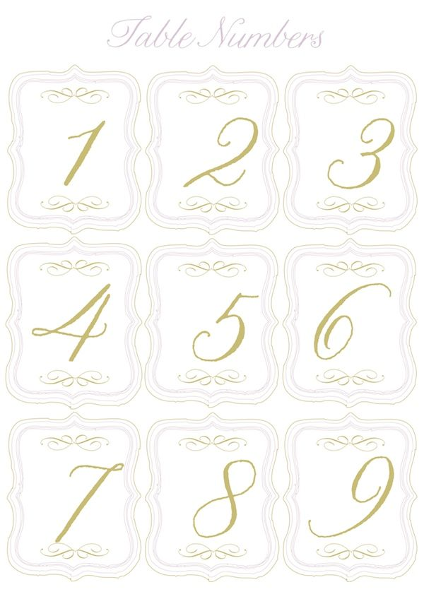 Free Printable  Table Numbers And Mini Flags To Pump Up The