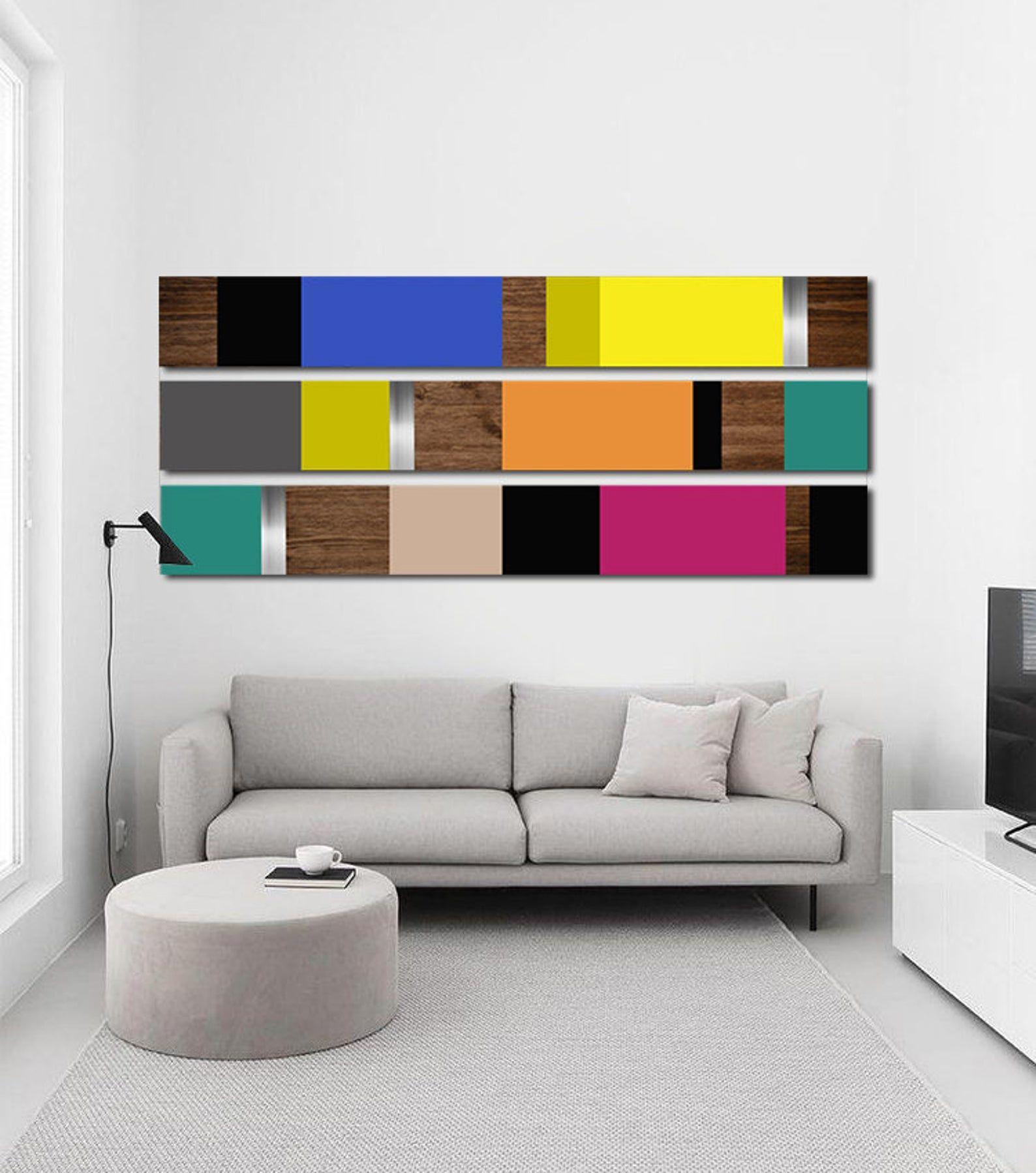 Minimalist Large Art Wall Decor Mid Century Modern Metal Etsy In 2020 Wood Wall Art Wood Art Design Wall Art Decor