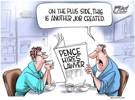 Political Cartoon U S Pence Lawyer Job Creation Unemployment