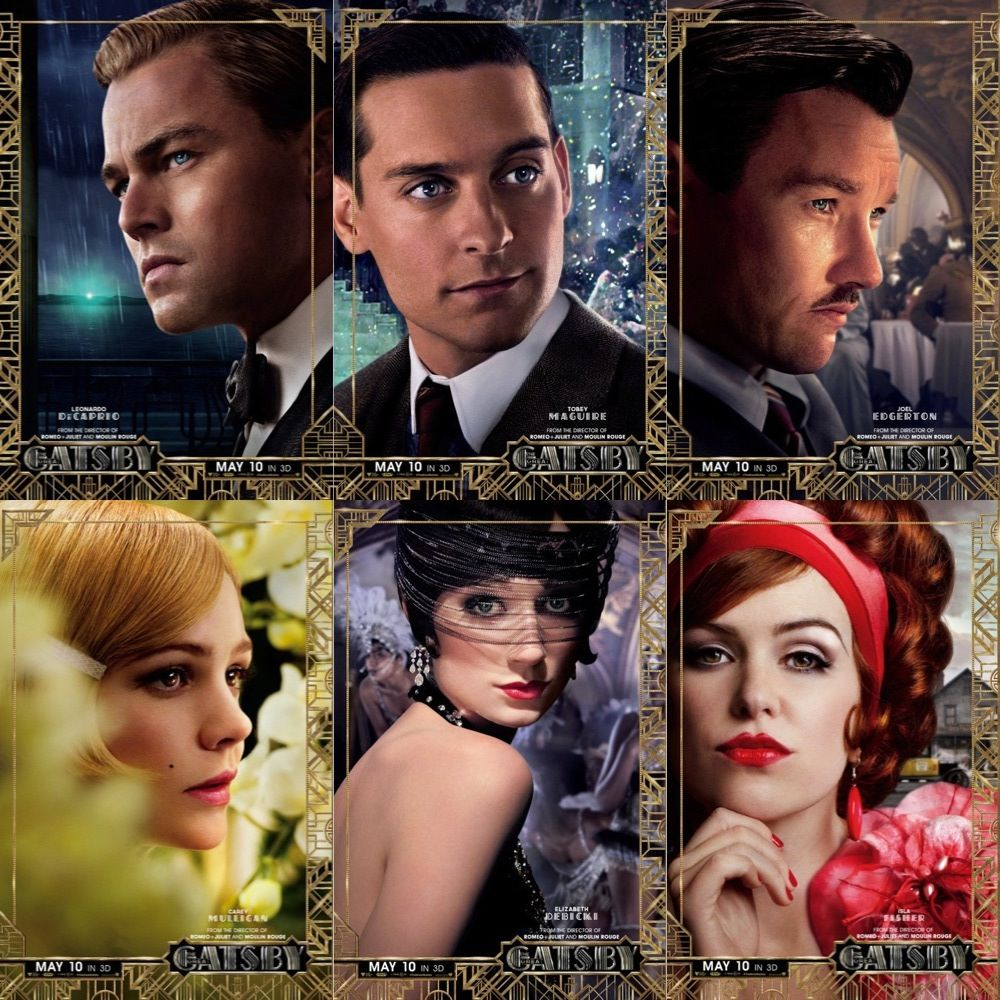 The Great Gatsby: Six New Character Posters