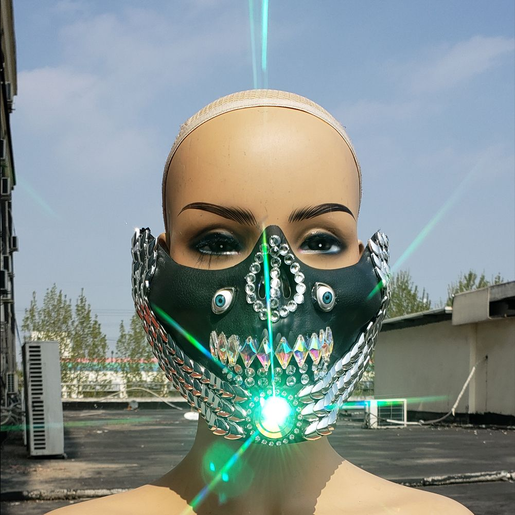 2020 的 DJ Mask,Burning Man Rave Costumes ,Streampunk Mask