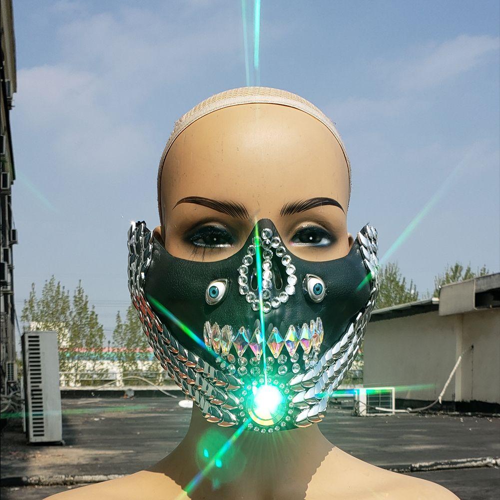 2020 的 DJ Mask,Burning Man Rave Costumes ,Streampunk Mask
