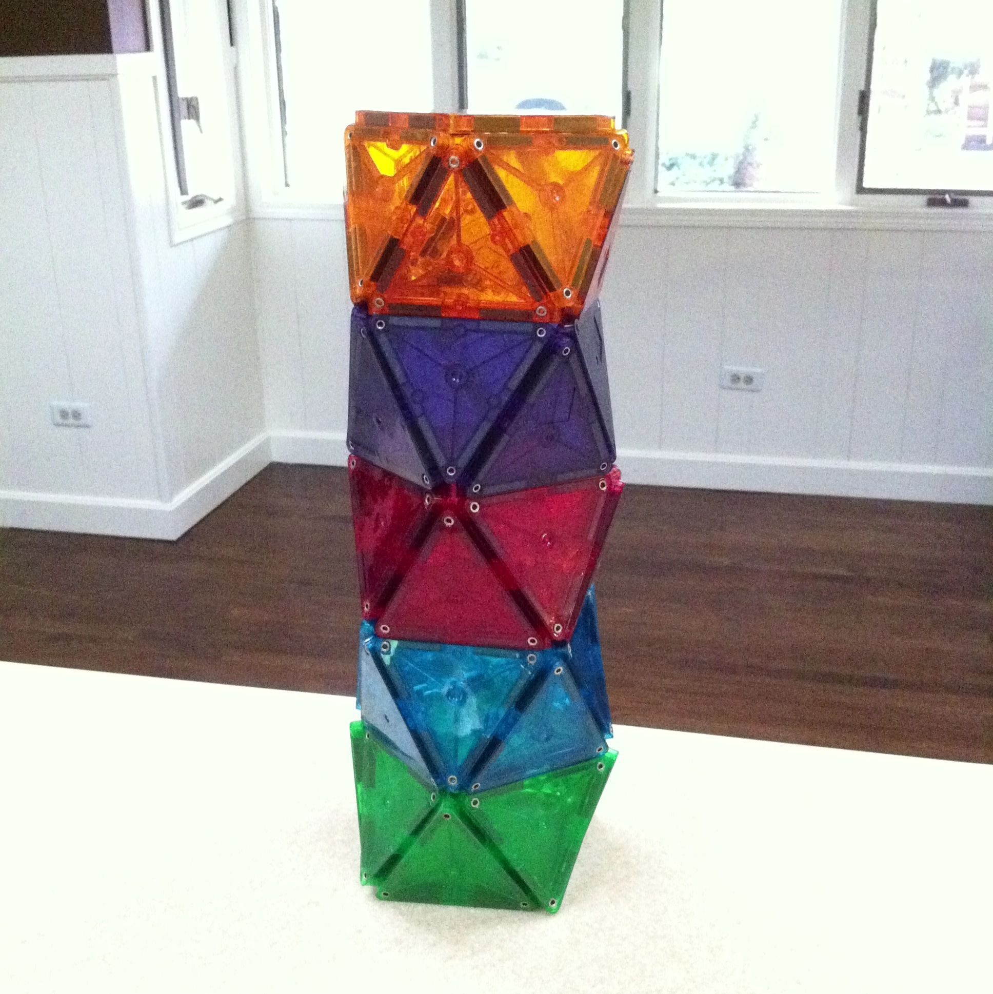 Magna Tiles Challenge Build a tower using this