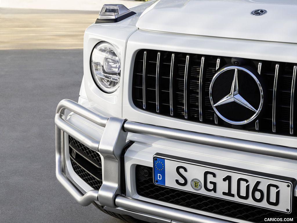 2019 Mercedes Amg G63 Color Designo Mystic White Bright Grill 30 Of 53 Mercedes Mercedes Amg Mercedes Benz Logo