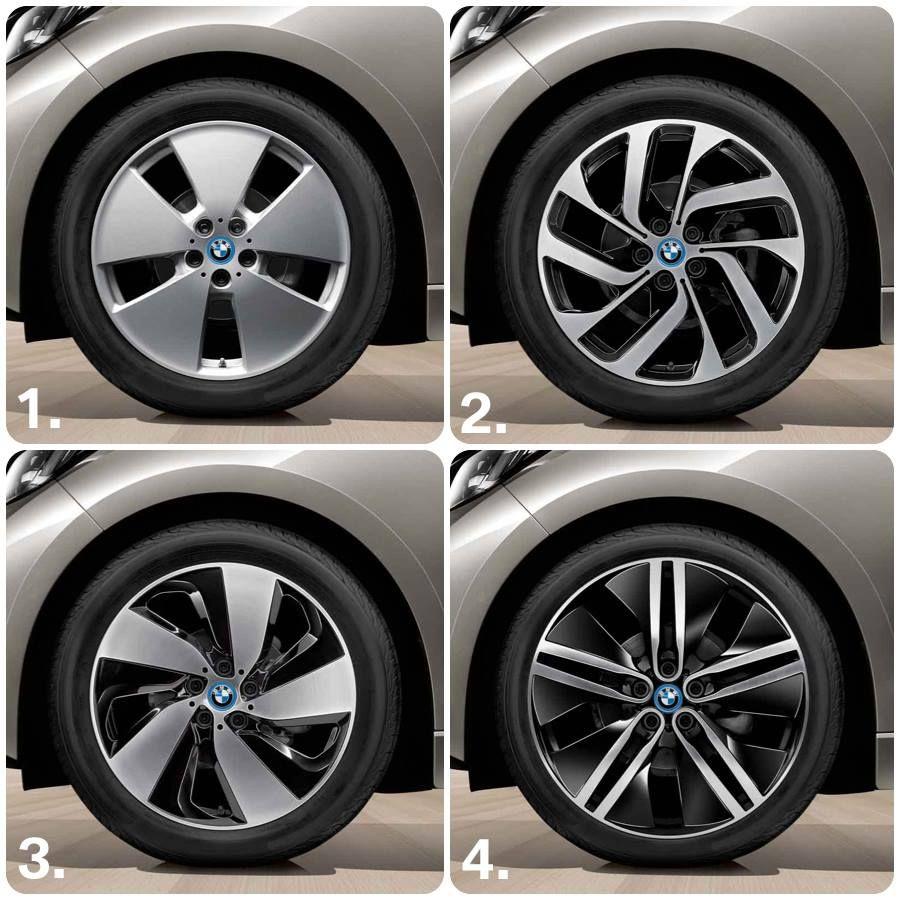 BMW i - Wheel styles: 1. Star-spoke 427 / 2. Turbine ...