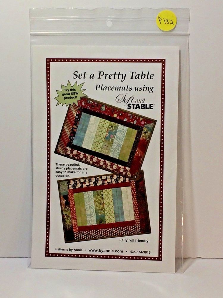 Set A Pretty Table Placemate Patterns By Annie Pba184 Jelly Roll