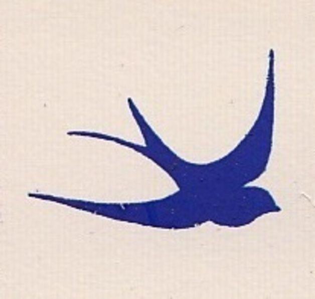 stempel stempel schwalbe b03 16511405 ein designerst ck von kiseki bei dawanda schwalben. Black Bedroom Furniture Sets. Home Design Ideas