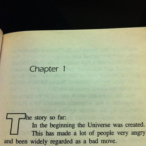 Douglas Adams. I should check him out