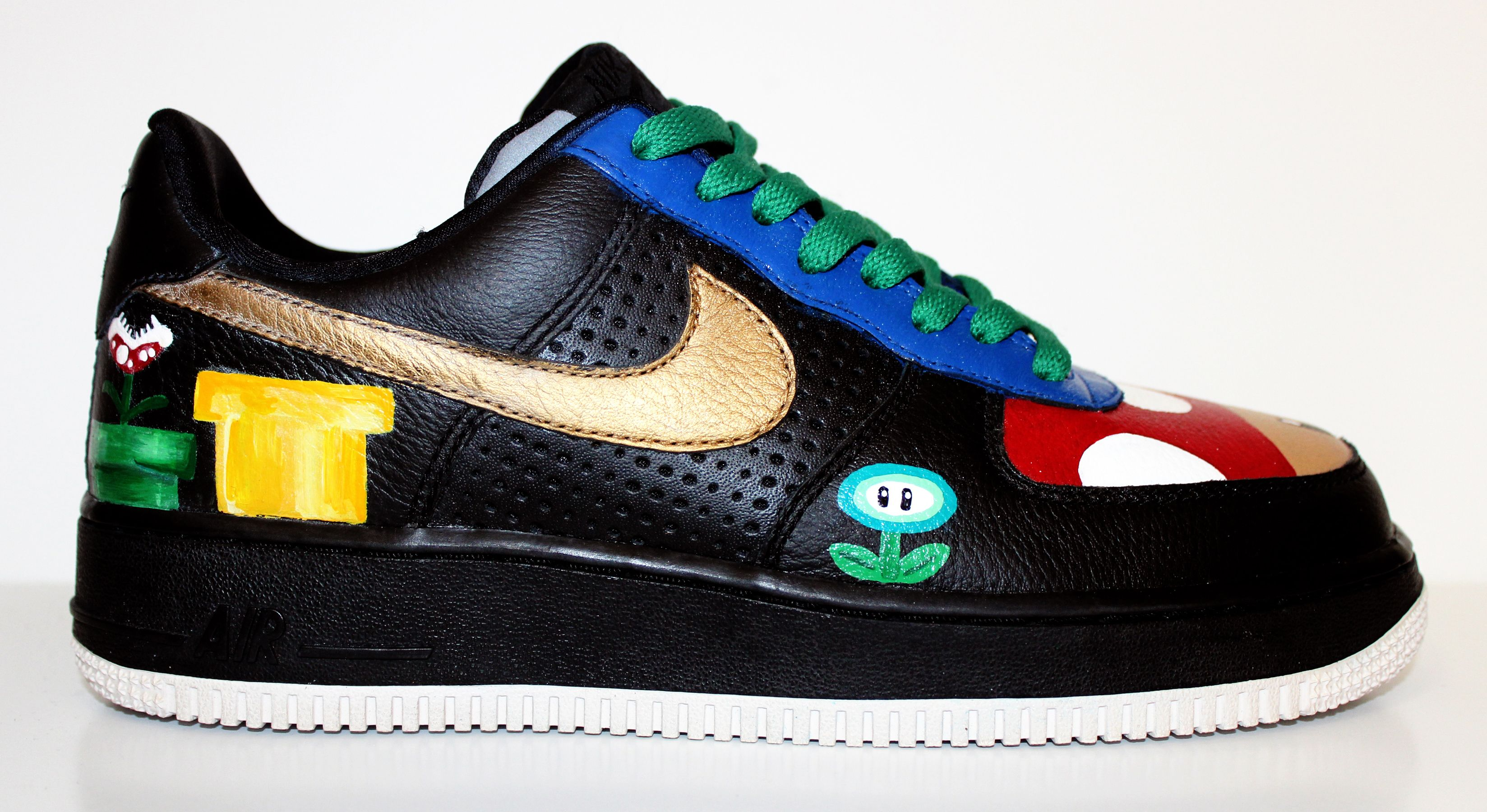Super Mario Themed Nike Air Force Size Mens / 9 Womens - Online Store  Powered by Storenvy