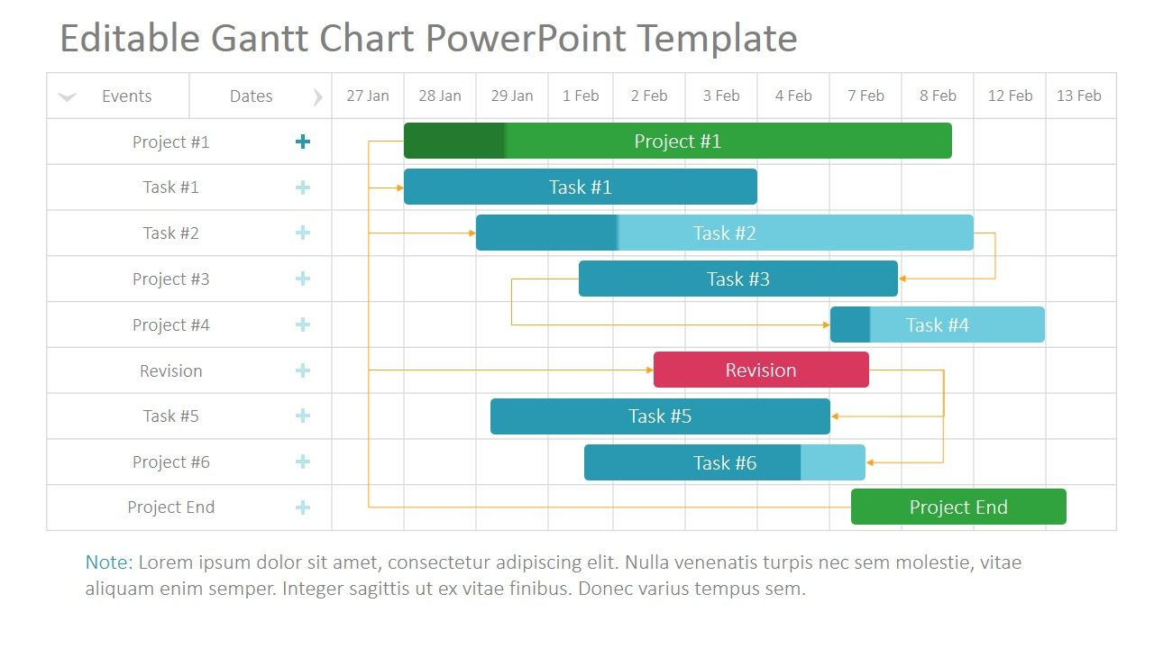 The project gantt chart powerpoint template is  professional presentation designed to easily create plans snapshots in diagram also timeline  planning rh pinterest