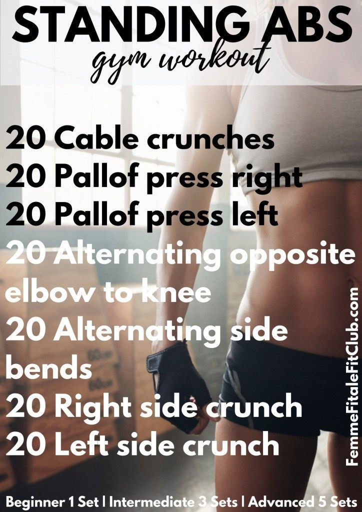 Standing Abs and Core Gym Workout #athomeworkout #workouts #coreworkout #absworkout #flatabs #flatbe...