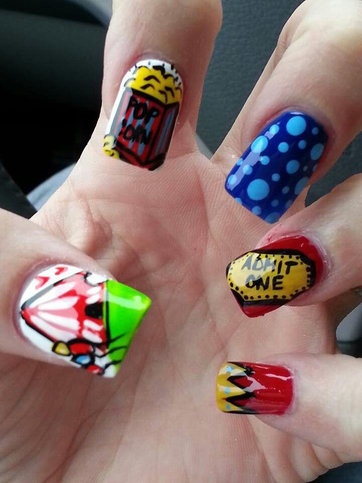 circus nails party carnival