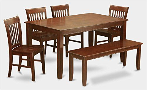 6-Pc Wooden Dining Set with Table furniture layout Pinterest