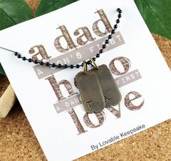 Mens Dog Tag Necklace - Mens Necklace - Personalized Dad Gift - Mens Necklace Pendant, Dad Gift, Gifts for Husband, Gifts for Dad