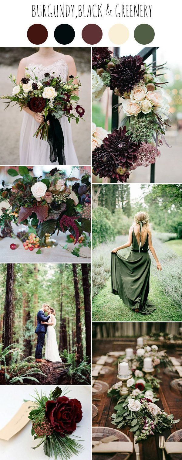 Outdoor fall wedding decor  Chic Dark and Moody Fall Wedding Ideas and Colors  Romantic