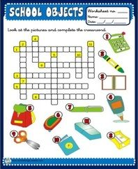 School Objects Worksheets | education | Pinterest | Worksheets and ...