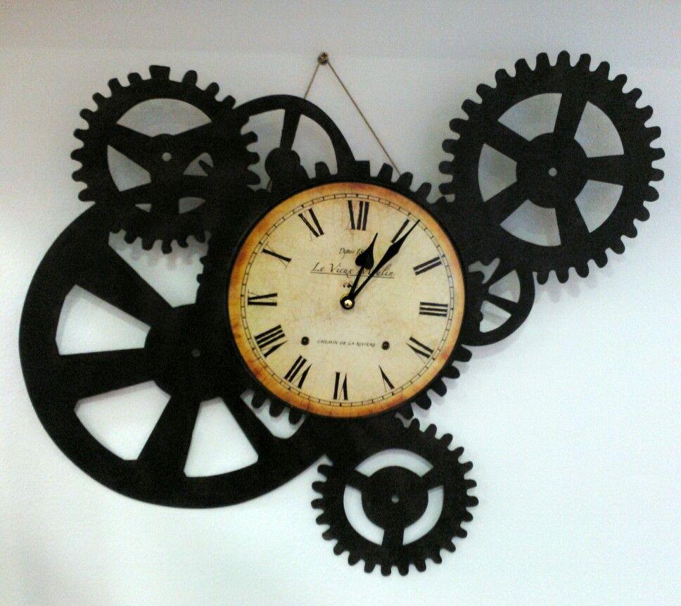Reloj Engranajes En Metal Reloj Engranajes Reloj De Arena