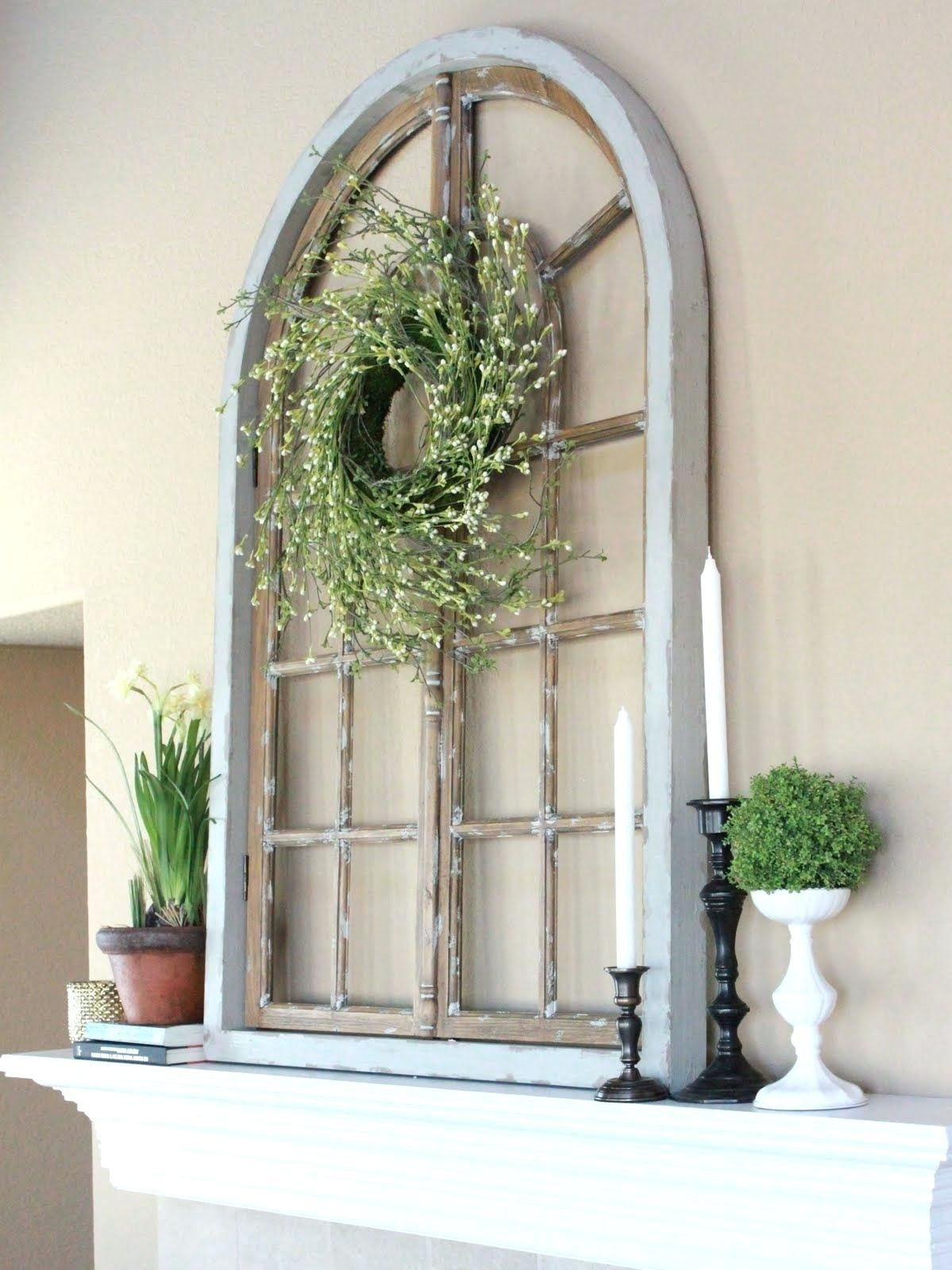 Arch Wall Decor S Wood And Metal Decoration Ideas Window Frame