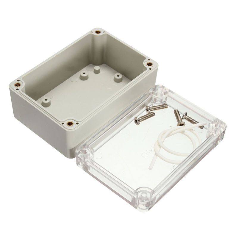 100 68 50mm Plastic Waterproof Clear Cover Plastic Electronic Project Box Enclosure Case Shell Electrical Connec Electronic Accessories Electronics Electricity