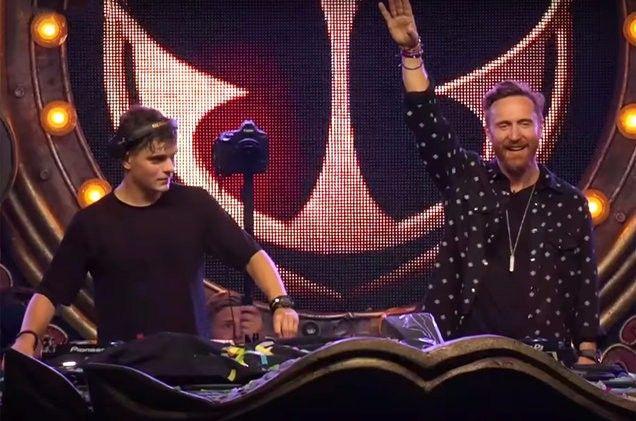 Martin Garrix David Guetta Live Premiere New Song So Far