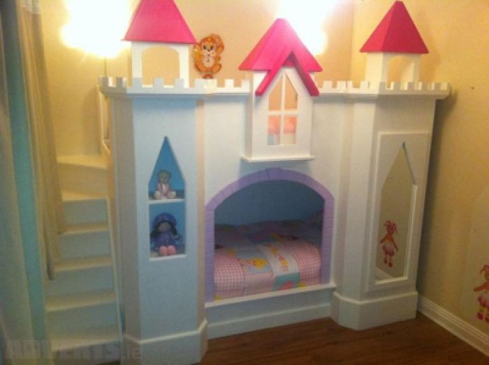 Girls Loft Bed For Sale Girls Castle Bunk Bed Hand Made One Off