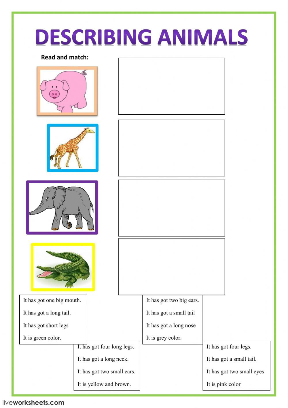 Have got Has got interactive and downloadable worksheet
