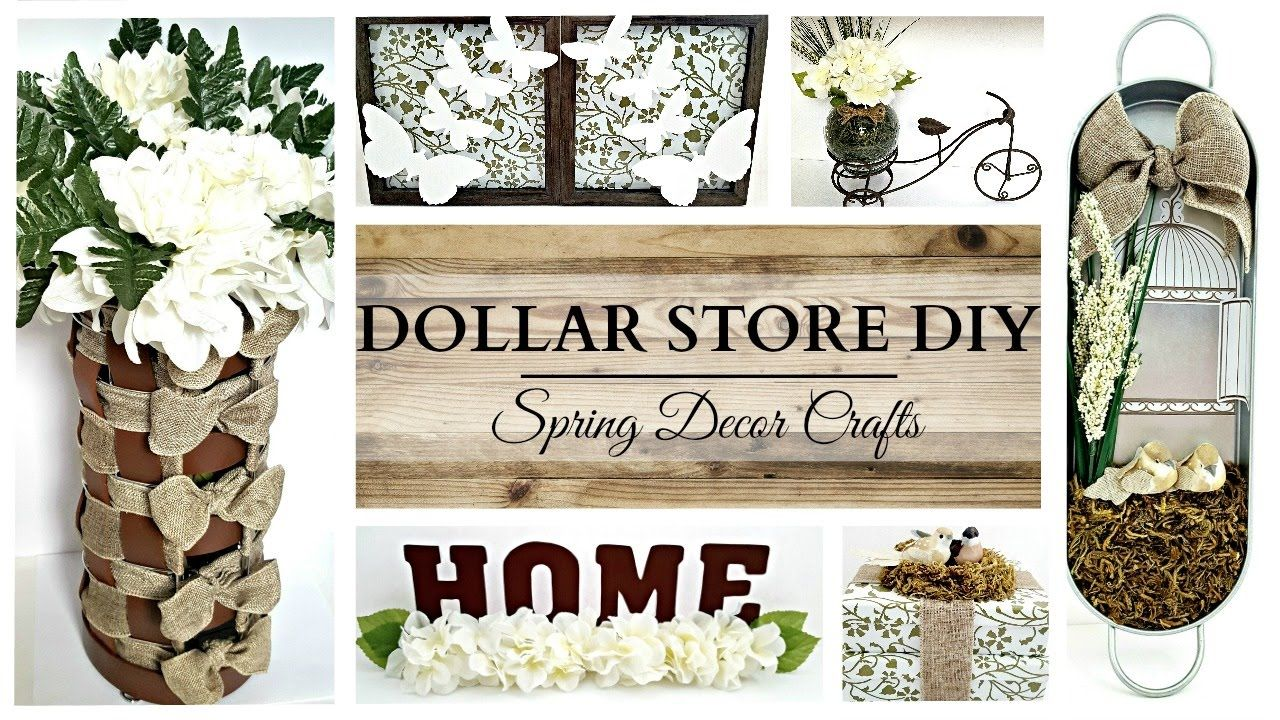 Dollar Store Diy S Earth Tone Spring Home Decor Crafts Spring