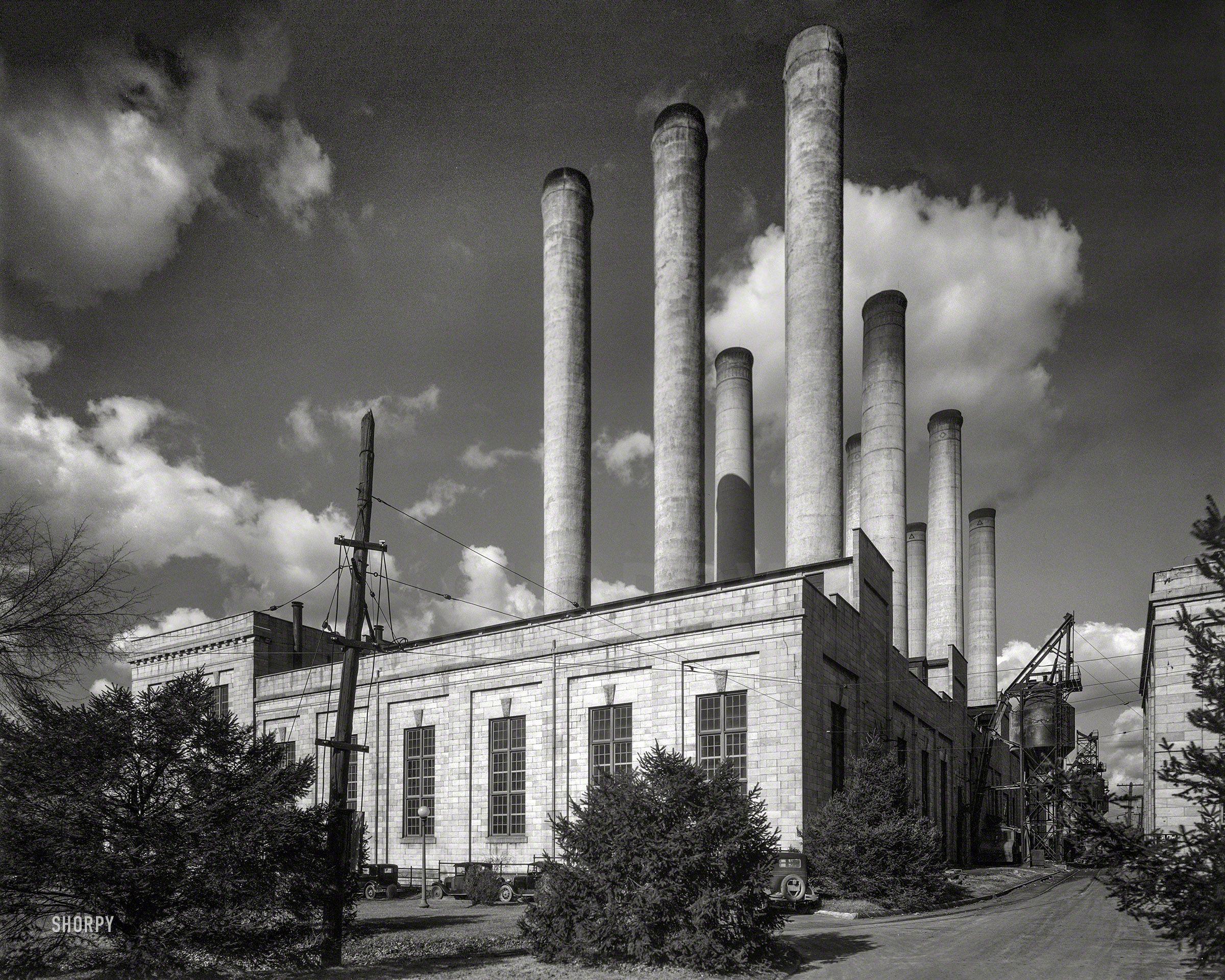 Washington D C Circa 1925 Rear View Of Potomac Electric Power Co Benning Plant 8x10 Safety Negative By Theodor Horydczak Fine Art Prints Fine Art Photo