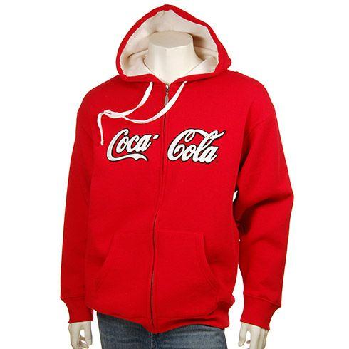 159763c5c1b Coca-Cola Men s Full Zip Script Hoodie Large