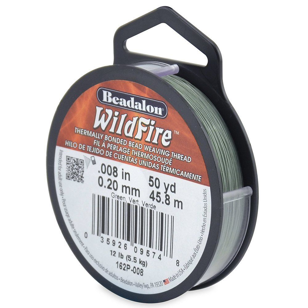 Beadalon WildFire .008-Inch Green, 50-Yard -- For more information, visit image link.