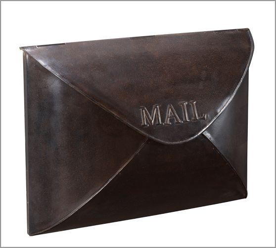 Envelope Mailbox Mailbox Metal Mailbox Pottery Barn