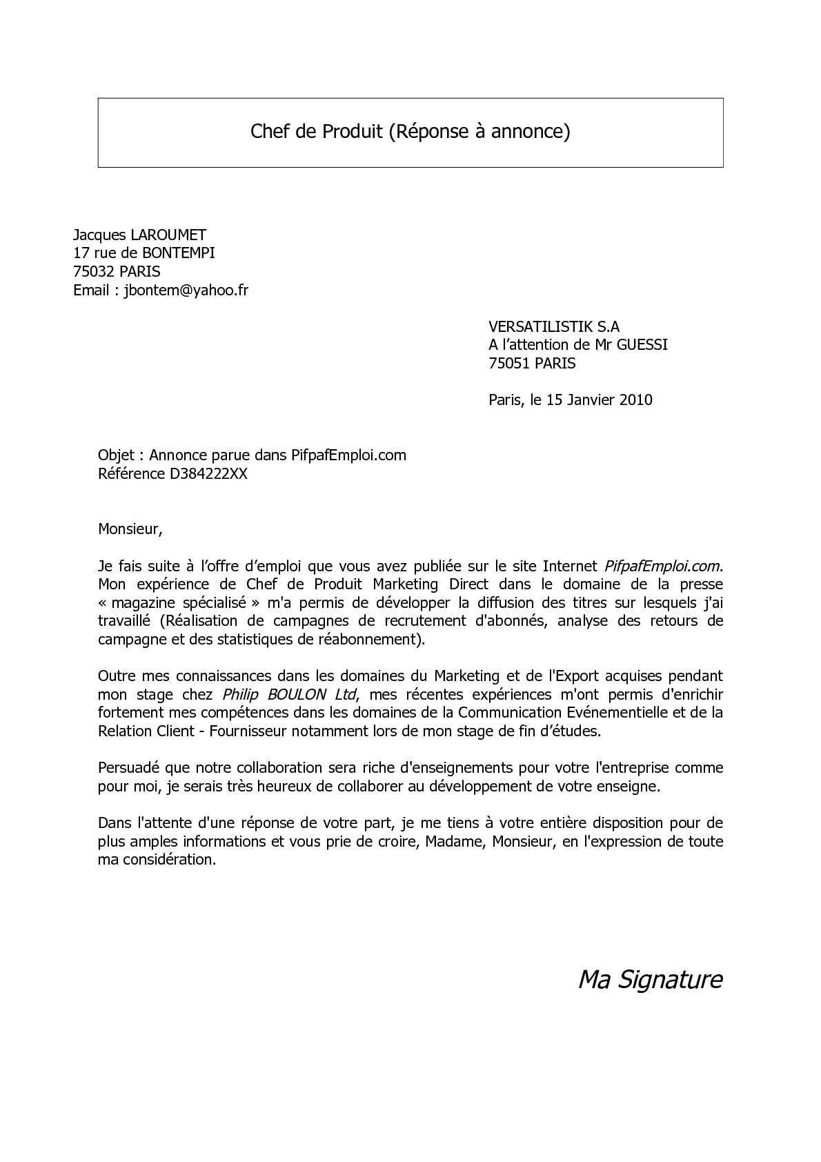 Calaméo Lettre Motivation Cyber Orange Chef De Produit