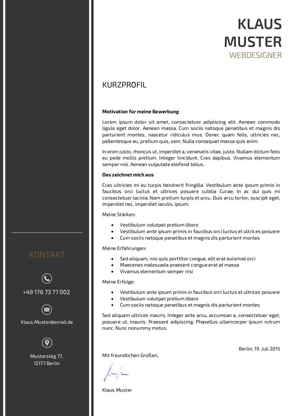 motivationsschreiben muster vorlage 3 - Motivationsschreiben Bewerbung Muster