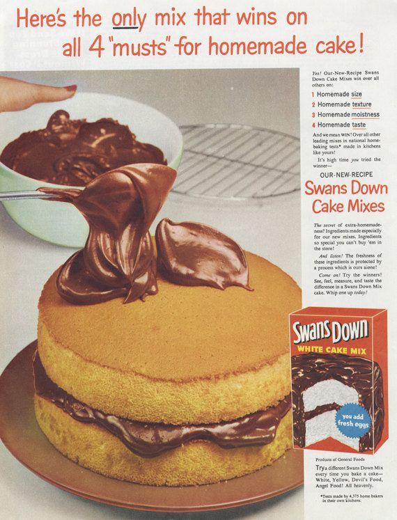 14 Cake Advertising Ideas Vintage Recipes Retro Recipes Food Ads