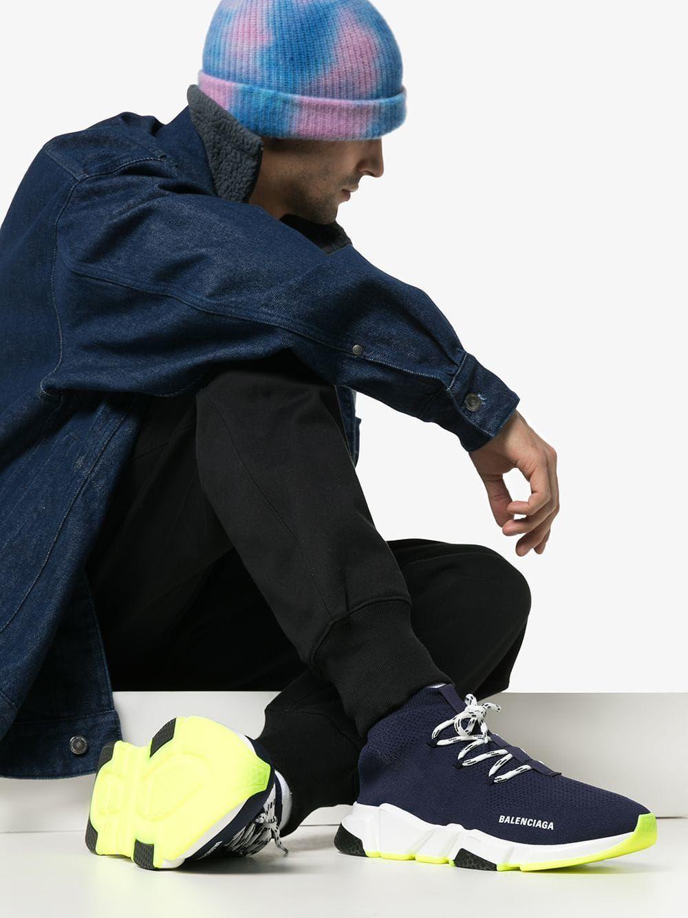 BALENCIAGA BALENCIAGA ATLANTIC BLUE SPEED FABRIC SNEAKERS.  balenciaga   shoes 5b57c7e04f91