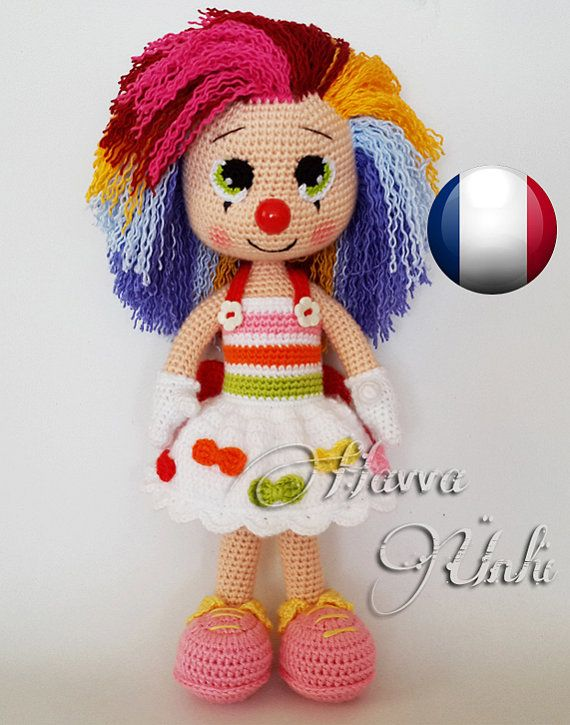 Français Modèle Miss Clown by HavvaDesigns on Etsy | amigurumis ...