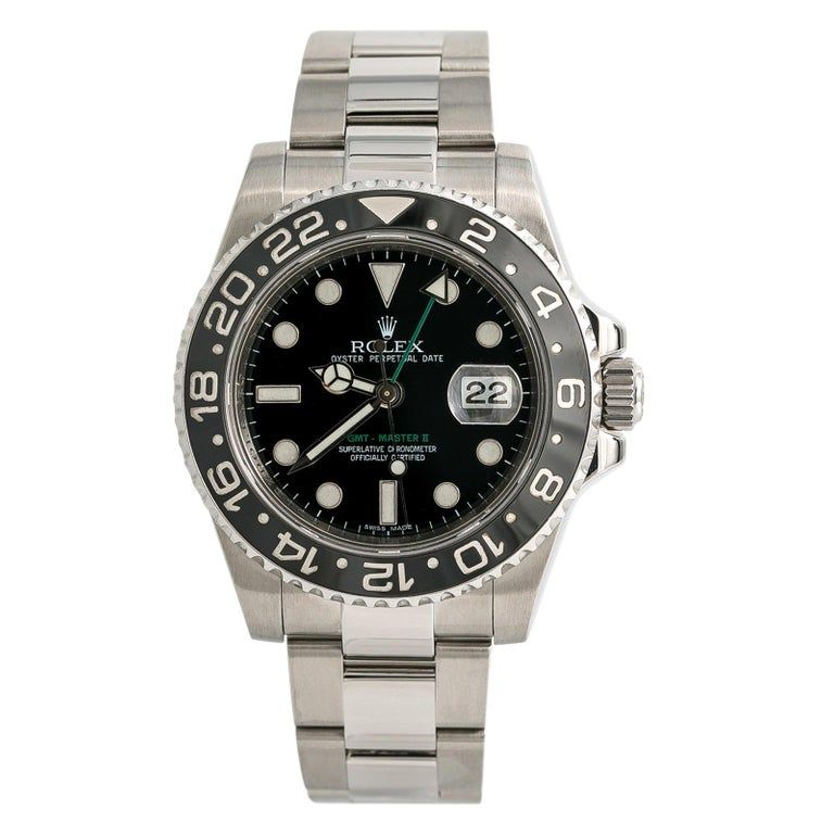 Rolex GMT Master II 116710LN; White Dial, Certified and Warranty