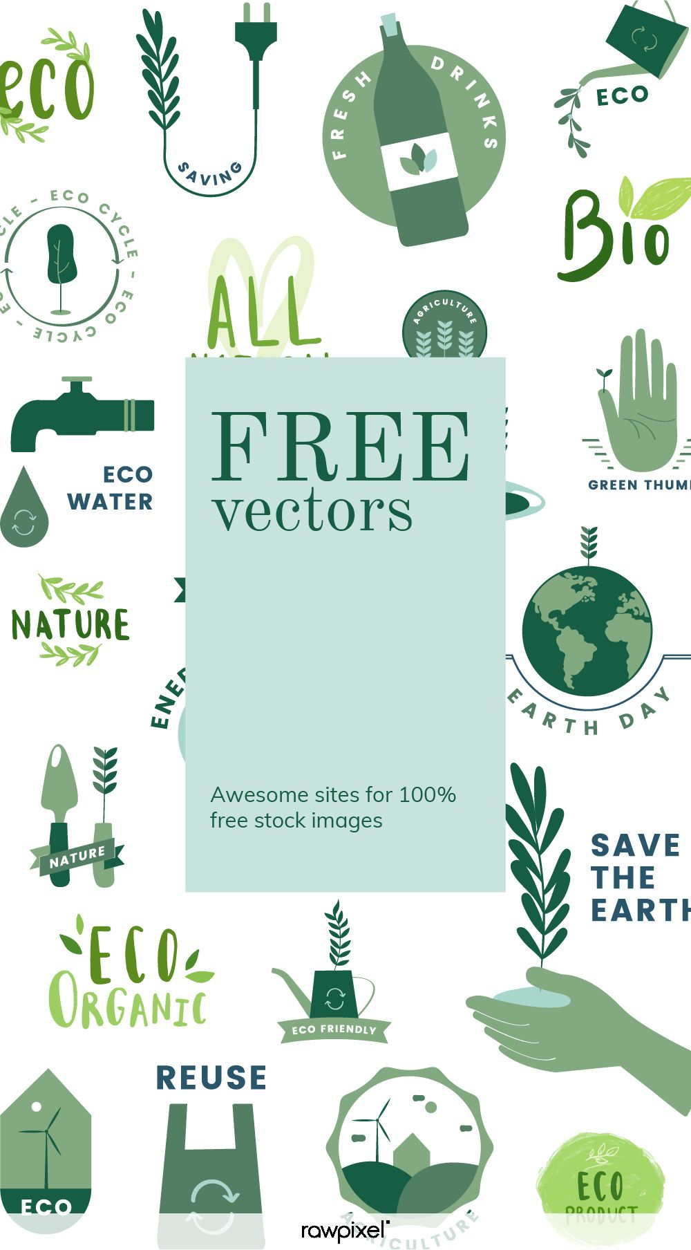 Download These Free Vectors Of Eco Design Set With Renewable Energy And Energy Conservation Concepts At Rawpixel Com Free Graphic Design Website Design Design