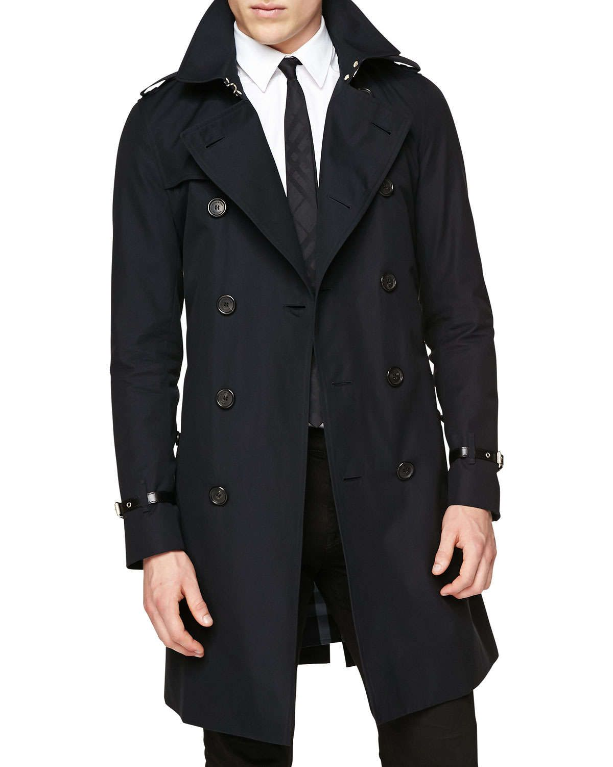 Navy Burberry Trench