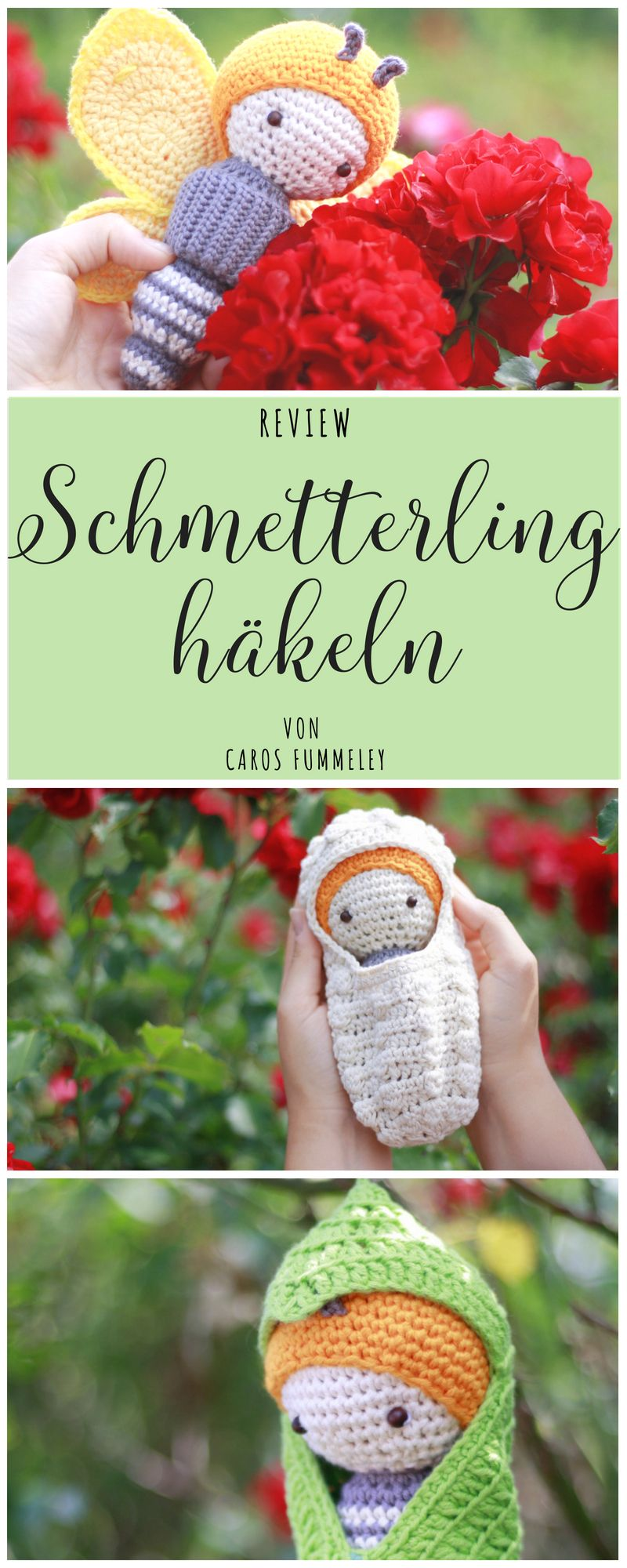 Photo of Crochet Butterfly – Amigurumi by lalylala – Caros Fummeley