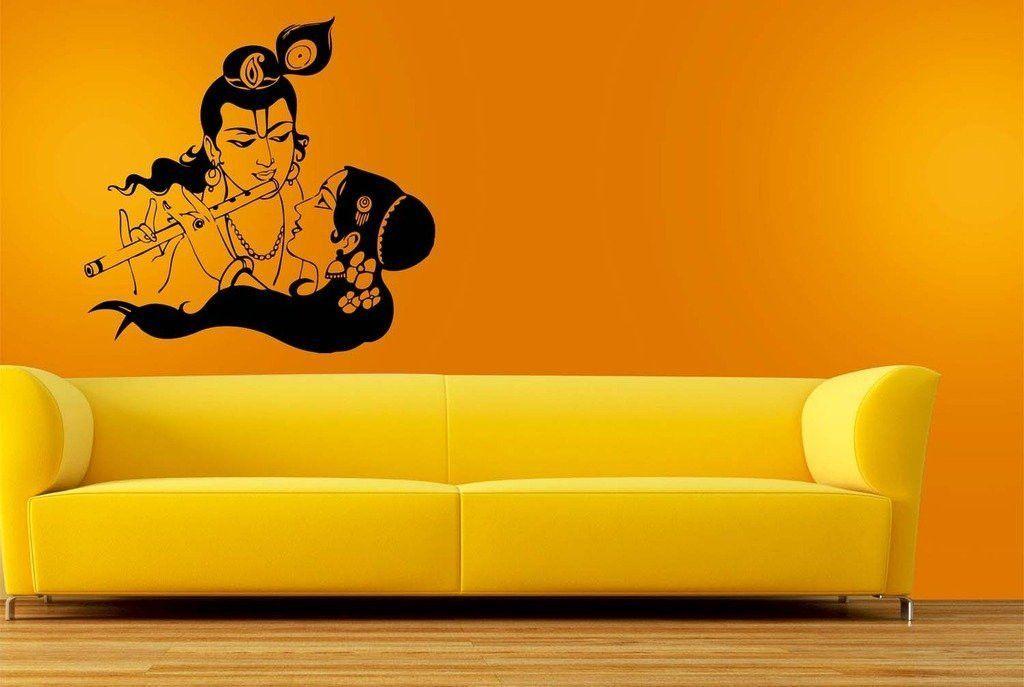 Radha Krishna Flute Wall Sticker Small (11.5x12 inches) | Pinterest ...