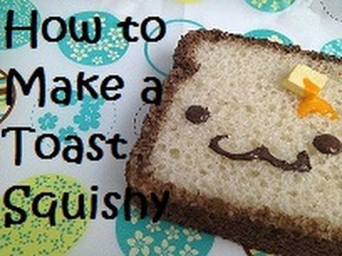 How to make a toast squishy youtube craft animeami pinterest how to make a toast squishy youtube ccuart Choice Image