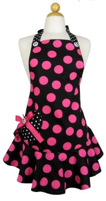 Big Dot Pink Flirty Sweetheart Pocket Apron from D-Lux 57. Packaged in the a matching keepsake envelope. Made in the USA. $59