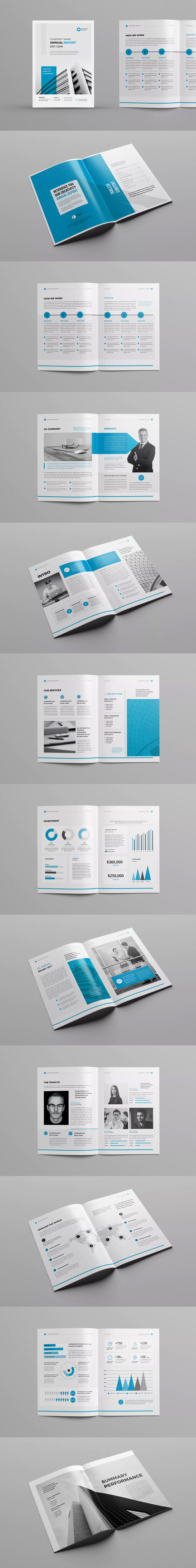 Annual Report Template InDesign INDD - A4 - 28 Pages | Annual Report ...