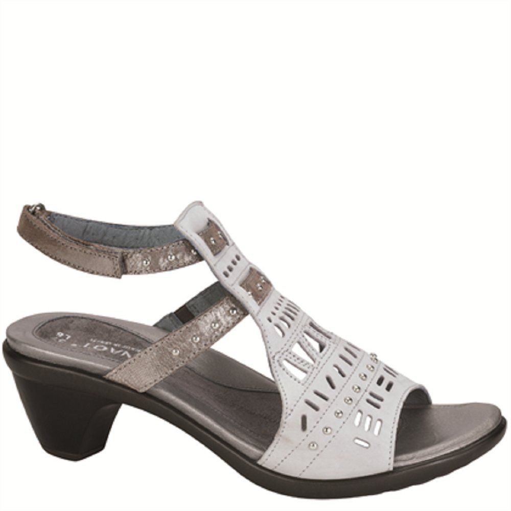 59a48f78db85 NAOT Womens Vogue Sandal Soft Gray Silver Threads Leather Size 38. Leather  upper. TPR outsole. 1 2
