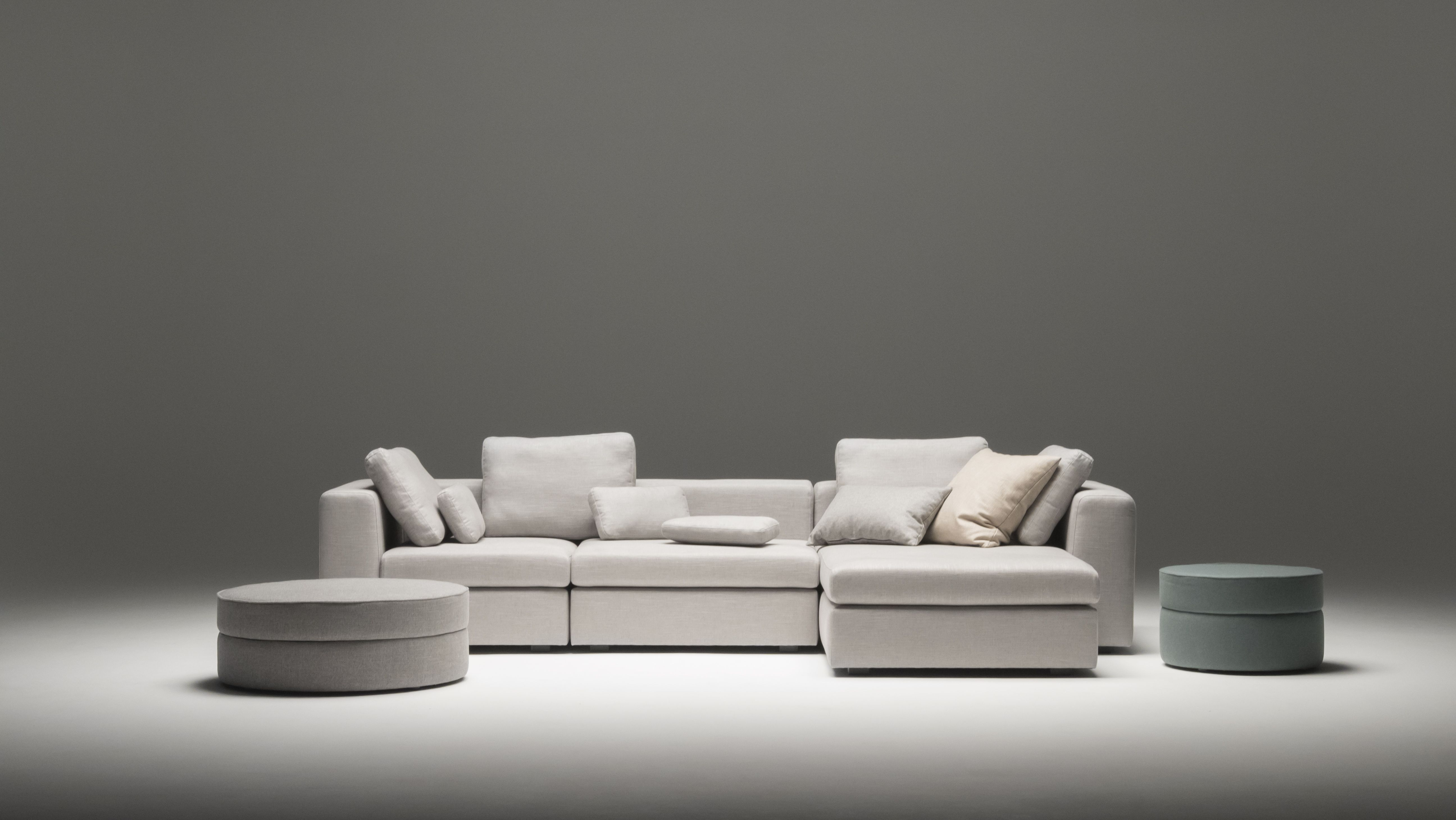 modernes modul ecksofa von sitzfeldt in grauem stoff und in der bestmoglichen qualitat design