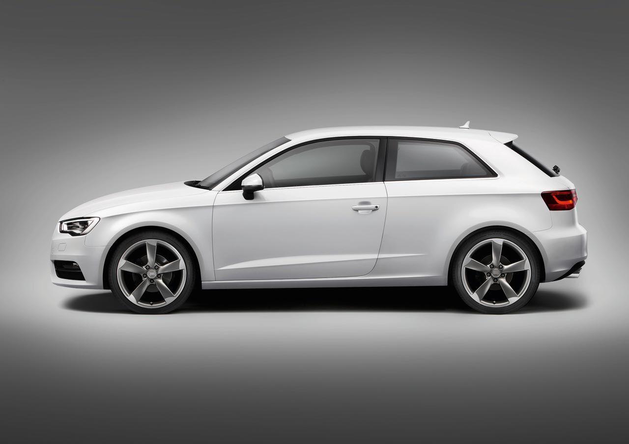 2013 Audi A3 White S Line Side View Studio A3 Hatchback Audi A3 Hatchback